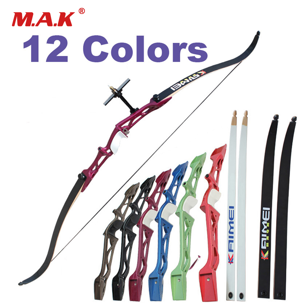 12 Color 66 68 70 Inches Recurve Bow 14 40LBS for Right Hand with Sight and