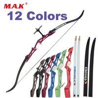 12 Color 66/68/70 Inches Recurve Bow 14 40LBS for Right Hand with Sight and Rest for Outdoor Archery Huntting Shooting Games