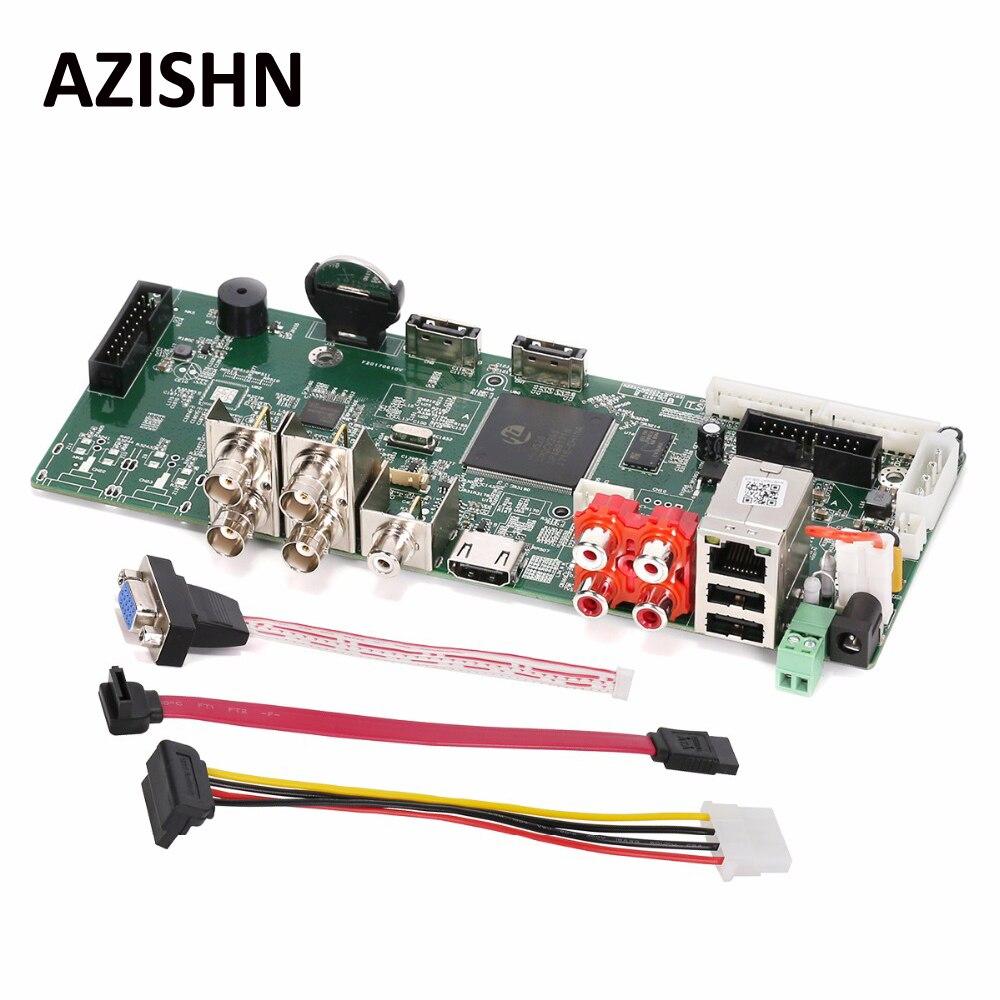 AZISHN 4CH AHD 4MP Main PCB AHD DVR Surveillance Recorder Video Recorder AHD TVI CVI CVBS