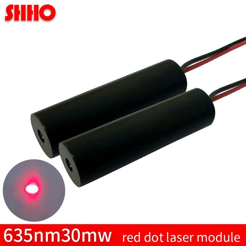 Красный точечный лазерный модуль 635nm 30mw с регулируемым размером пятна красный светильник ACC режим DC драйвер красный указатель промышленный ...