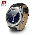 Nova Arrivel Marca TTLIFE LW01 Round Dial Relógios Inteligentes Suporte SIM sd cartão de sms gprs mp3 mp4 smart watch para iphone android telefone