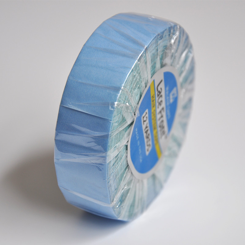 3/4inch*12yards Lace Front Support Blue Double Sided Tape For Hair Tape Extension/Toupee/Lace Wig