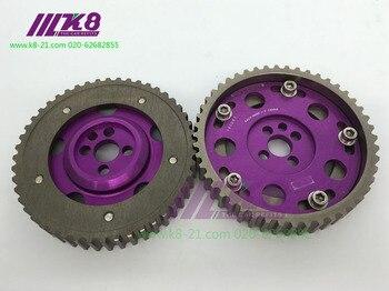 2 sztuk regulowany DOHC Cam Gears ze stopu rozrządu biegów dla Nissan CA18DE