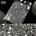 1.5mm 20000 unidades/pacote 3D Limpar Transparente Gems Rhinestone Decoração Rodada Cristal Glitter DIY Pregos Unhas Adesivos Para Dicas DIY
