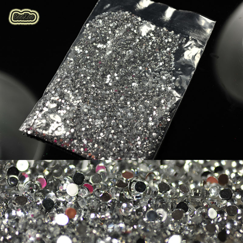 1.5mm 20000pcs/pack 3D Clear Transparent Gems Rhinestone Decoration Round Crystal Glitter DIY Nail Studs Stickers For DIY Tips ezflow 3 ezflow nail tips perfection ii crystal clear 29010 3 50