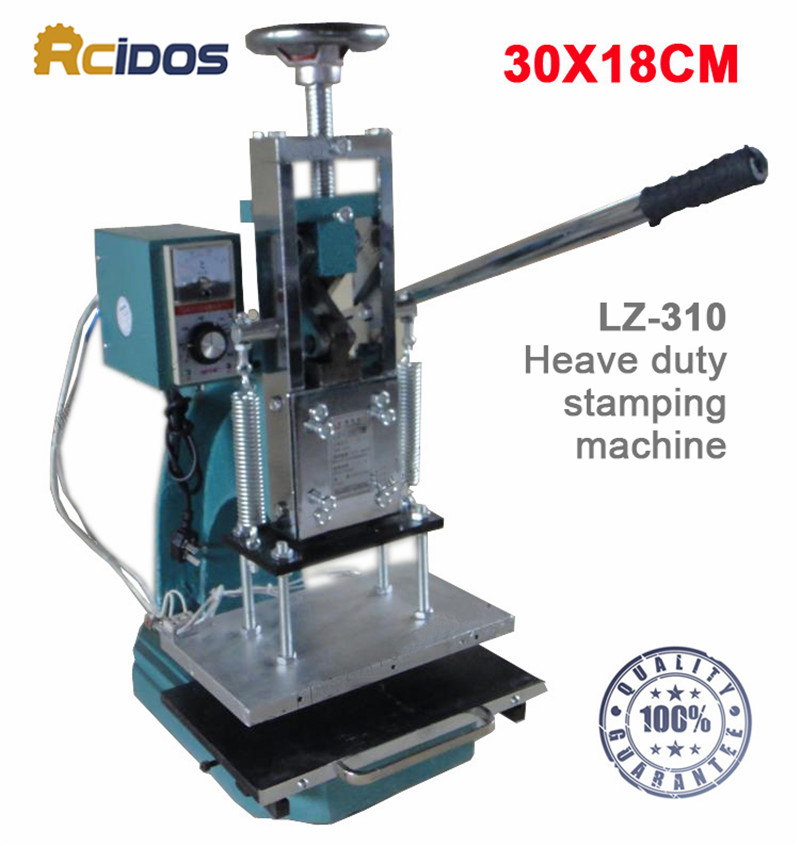 LZ 310 RICDOS Heave duty hot foil stamping machine,Creasing machine,marking press,embossing machine(30x18cm)