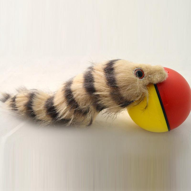 1Pcs Cat Toys Beaver Weasel Rolling Motor Ball Toy For Pet Cat Dog Kids Jumping Fun Moving  Pet Products