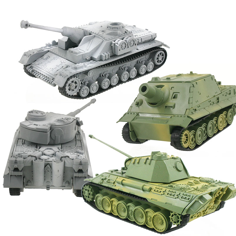4D Tank Model Building Kits Military Assembly Educational Toys Decoration High-density Material Panther Tiger Turmtiger Assault