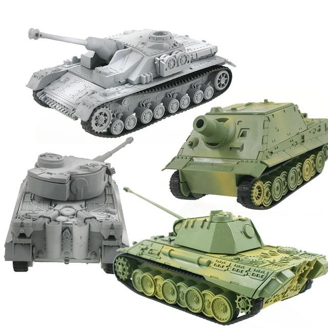 4D Tanque Modelo Kits de Construção Montagem Brinquedos Educativos Decoração de Alta-densidade de Material Militar Pantera Tigre Turmtiger Assalto