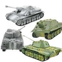 4D zbiornika modelu budynku zestawy wojskowy montaż zabawki edukacyjne dekoracji materiał o wysokiej gęstości pantera tygrys Turmtiger atak