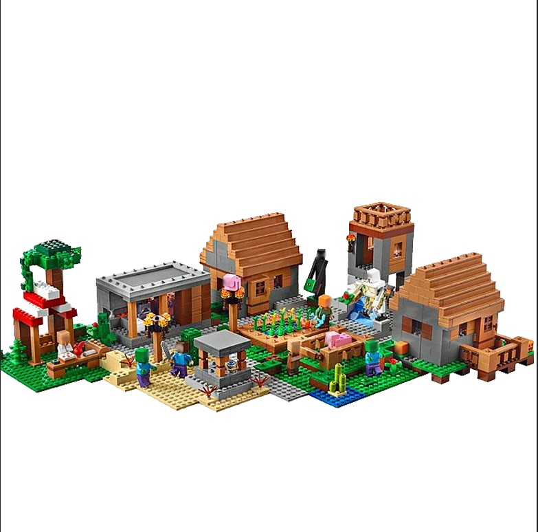 LEPIN 18008 1673pcs Mine crafted  World Series Village Model Building blocks Bricks Educational toys for children Gifts 21128 killer mine