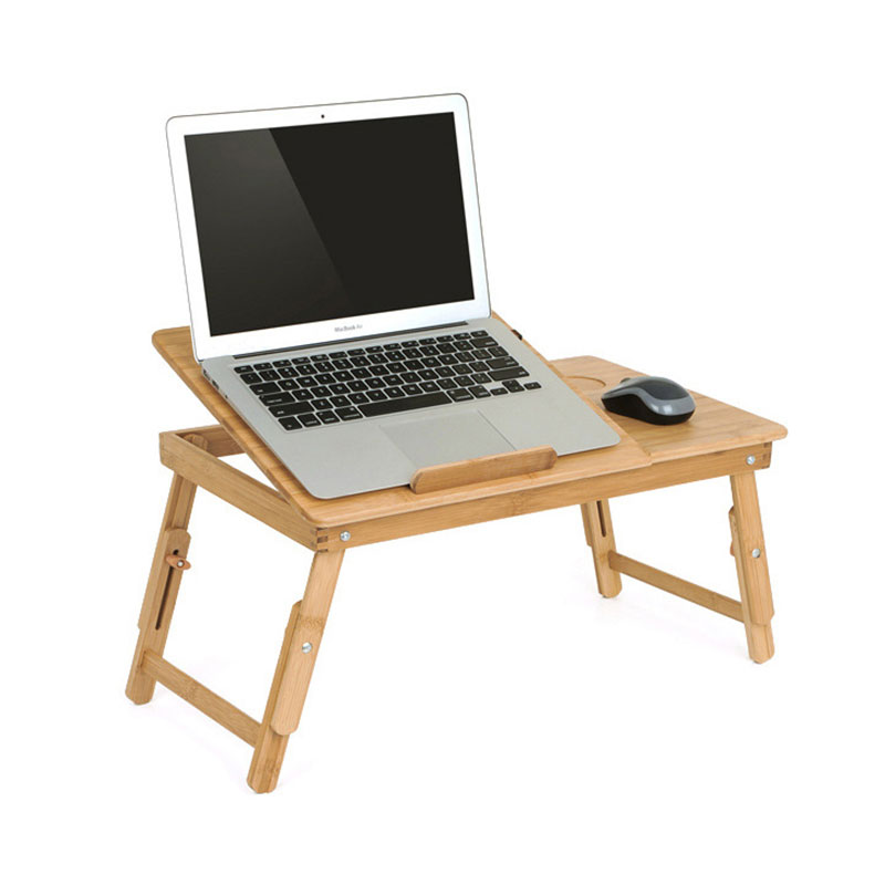 MAGIC UNION Portable Folding Bamboo Laptop Table With Cooling Fan Notebook Stand Desk For Bed Sofa Computer Desk Office Supplies(China)