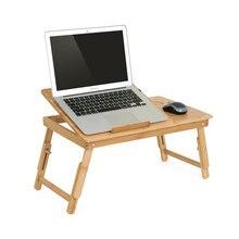 MAGIC UNION Draagbare Folding Bamboe Laptop Tafel Met Cooling Fan Notebook Stand Bureau Voor Bed Sofa Computer Bureau Kantoorbenodigdheden