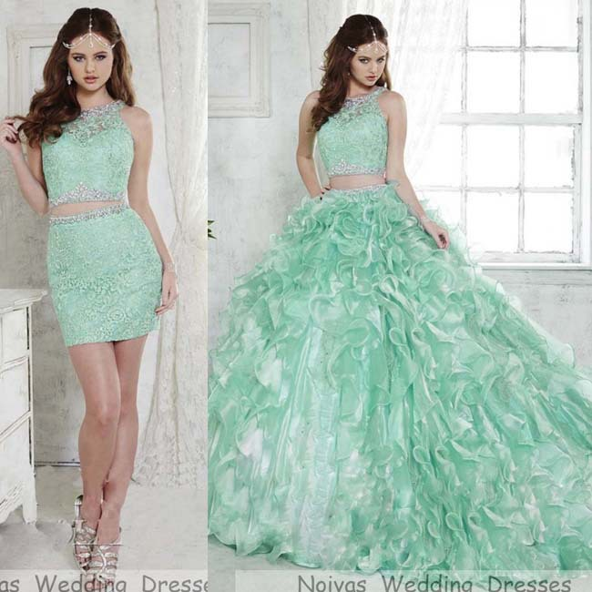 cd4e081274 Vestido De Debutante Dress For 15 Years Princess Puffy Elegant Two Pieces  Lace Mint Green Quinceanera Dresses Ball Gowns 2015-in Quinceanera Dresses  from ...