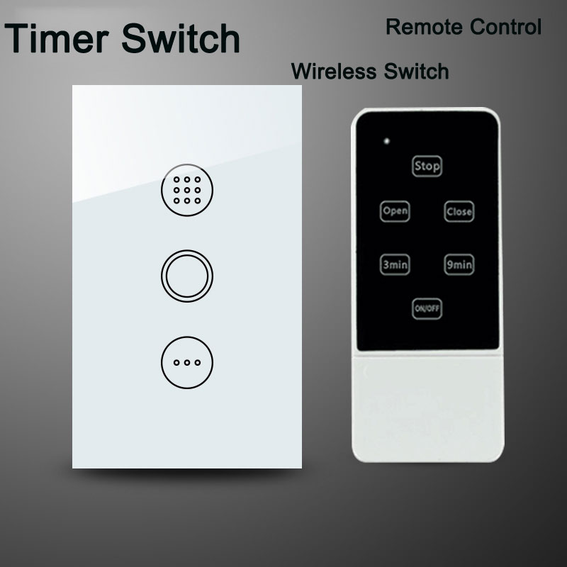 US Standard Wall WiFi Remote Control Light Timer Switch  AC110V Smart Home Touch Screen Crystal Glass Switch Panel Interruptor smart home us black 1 gang touch switch screen wireless remote control wall light touch switch control with crystal glass panel
