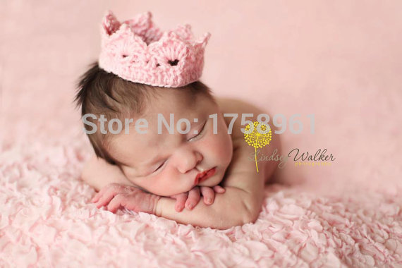 Newborn crochet crown pink blue crown baby crown newborn photo prop boy