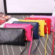 цена на New Women Leather Shoulder Bag Tote Messenger Crossbody Satchel Handbag Trendy Crocodile Grain Messenger Bag Chain Shoulder Bag