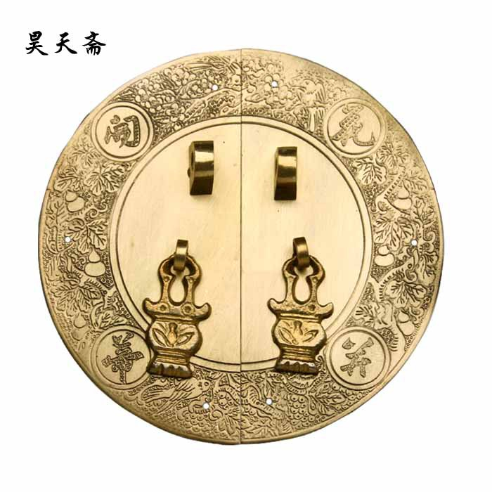 [Haotian vegetarian] antique Ming and Qing furniture copper fittings / flowers Bingdi / cabinet handle HTB-044 [haotian vegetarian] ming and qing furniture antique copper fittings copper handle htb 009 18cm