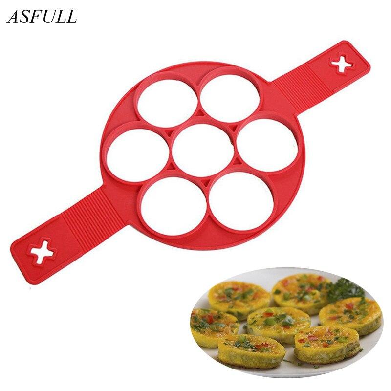 ASFULL Silikon Ei Pastry Werkzeuge Kochen Werkzeuge Ofen Runde Form Seife Kuchen Crêpière Form DIY für Drop Küchenhelfer