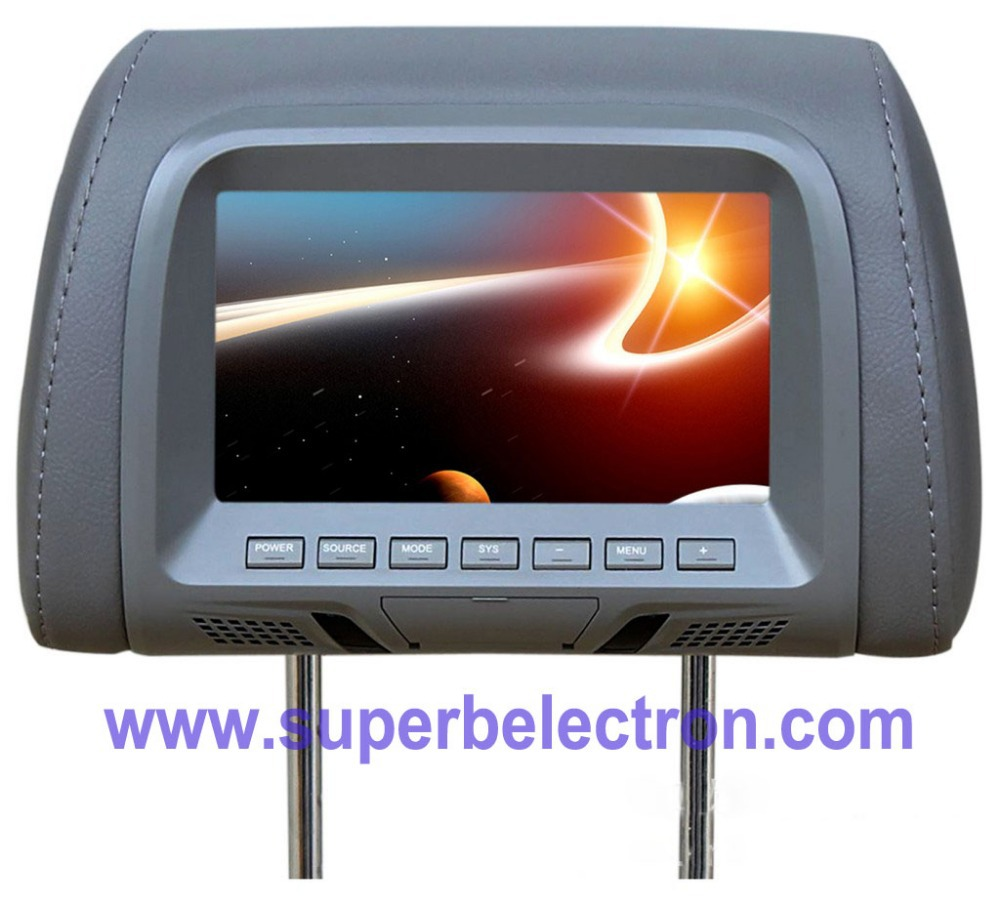 universal 7 inch car headrest monitor/LCD monitor for car ,Two video input ,Multi-language menu,chevrolet cruze