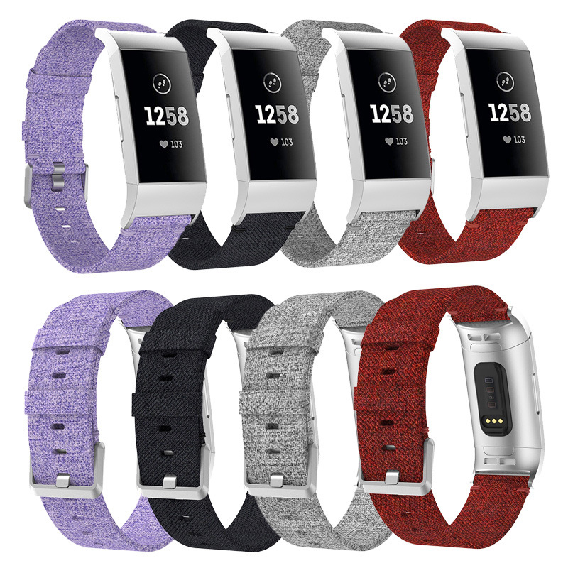 Replacement Strap for Fitbit Charge 3 Smart Bracelet Watch Band Canvas Nylon Denim Men Women Smartwatch Charge3 Watchband fitbit watch