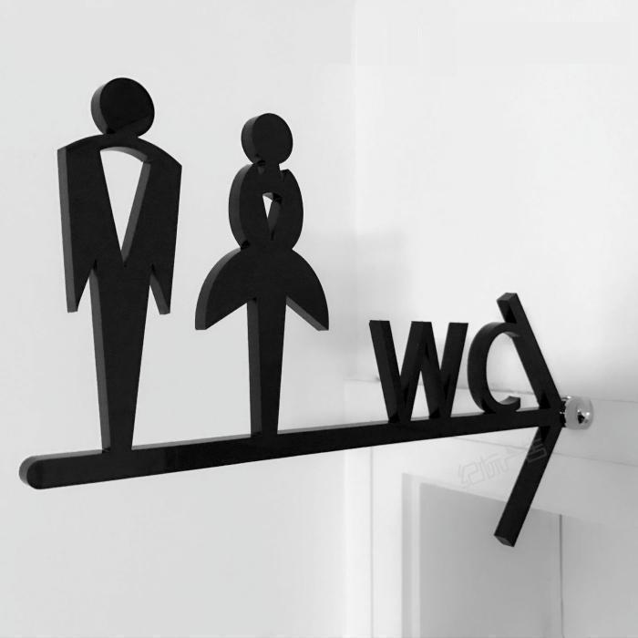 Ladies//Gents Room Pair Sign Plaques Washroom Toilet Men/&Women Fullhome