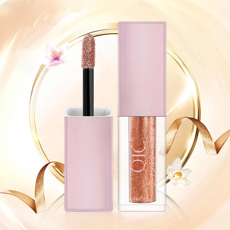 QIC 8 Warna Tahan Air Bersinar Cair Eyeshadow Glitter untuk Mata Dekorasi Tahan Lama Diamond Makeup Eyeshdow Palet Alat