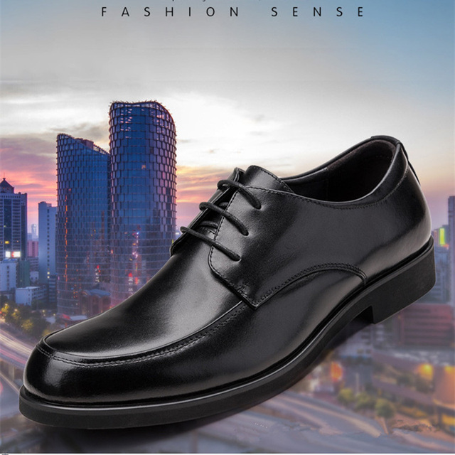 REETENE Oxford Shoes For Men Dress Shoes Round Toe Business Wedding Men Formal Shoes Hard Wearing Retro Lace Up Shoes MenS