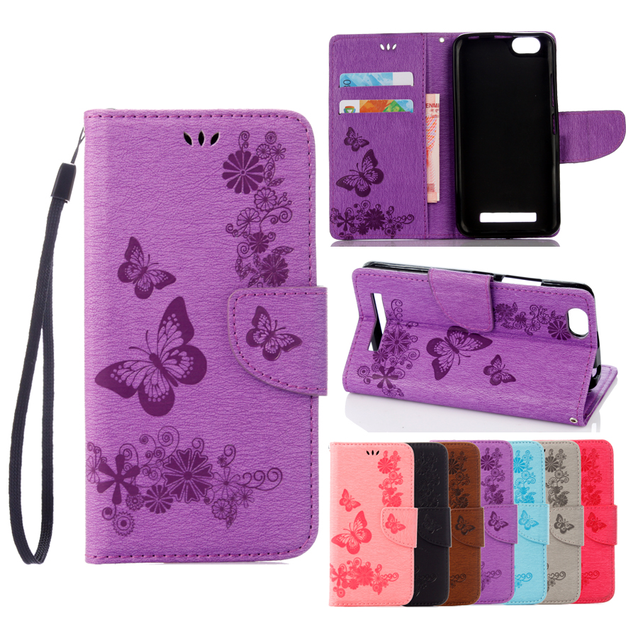 Leather Case sFor Lenovo A2020 Case For Lenovo Vibe C A2020 A2020a40 DS A 2020 Case Cover Butterfly Flip wallet Phone Bag
