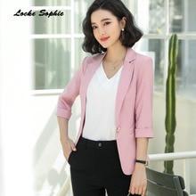 1pcs Women's Plus size Slim fit Blazers coats 2019 Autumn Fashion cotton blend Small Suits jackets ladies Skinny Blazers Suits