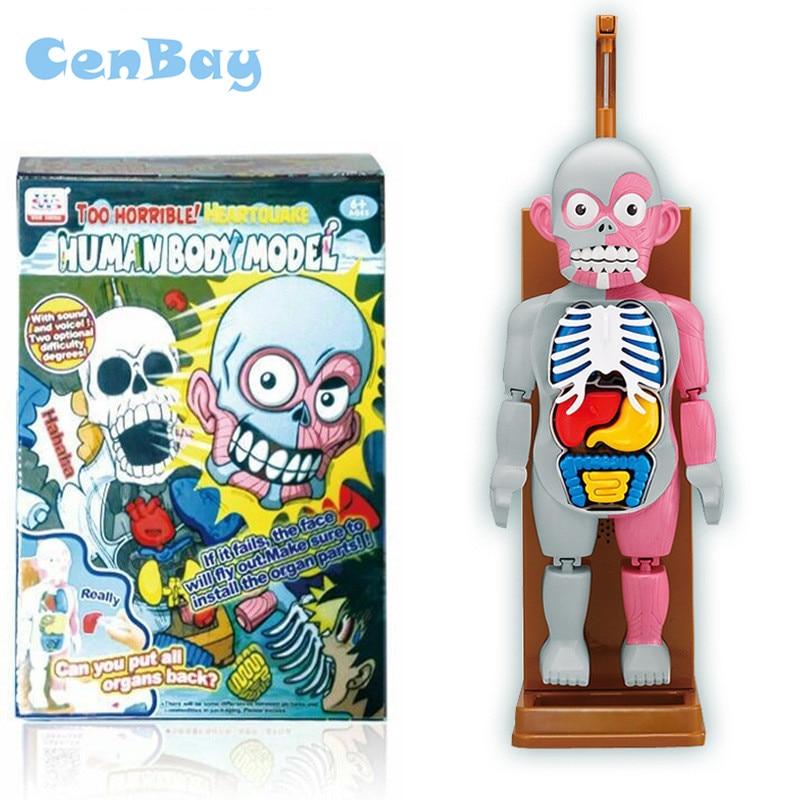 4D maître corps humain assembler des modèles Puzzle 3D drôle famille partie blague jeu interactif Halloween Horrible jouet cadeaux pour les enfants