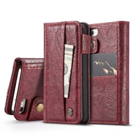 Caseme Phone Case For IPhone 5 5S SE Luxury Retro PU Leather Flip Stand Wallet Phone