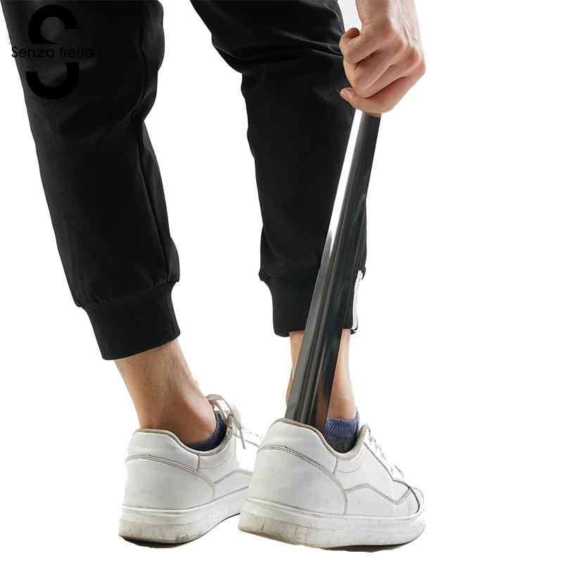 Senza Fretta 1 ADET ayakkabı çekeceği s Paslanmaz Çelik Profesyonel ayakkabı çekeceği Kaşık Shoehorn Ayakkabı Kaldırıcı Aracı Dayanıklı Uzun Saplı Shoespoon