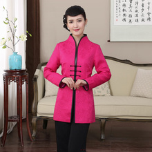 Traditional Chinese Dust Coat Womens Cotton Long Jacket Size M-4XL