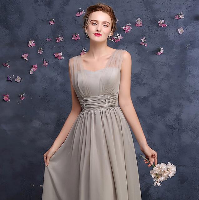 V-Neck Chiffon Bridesmaid Dress 2