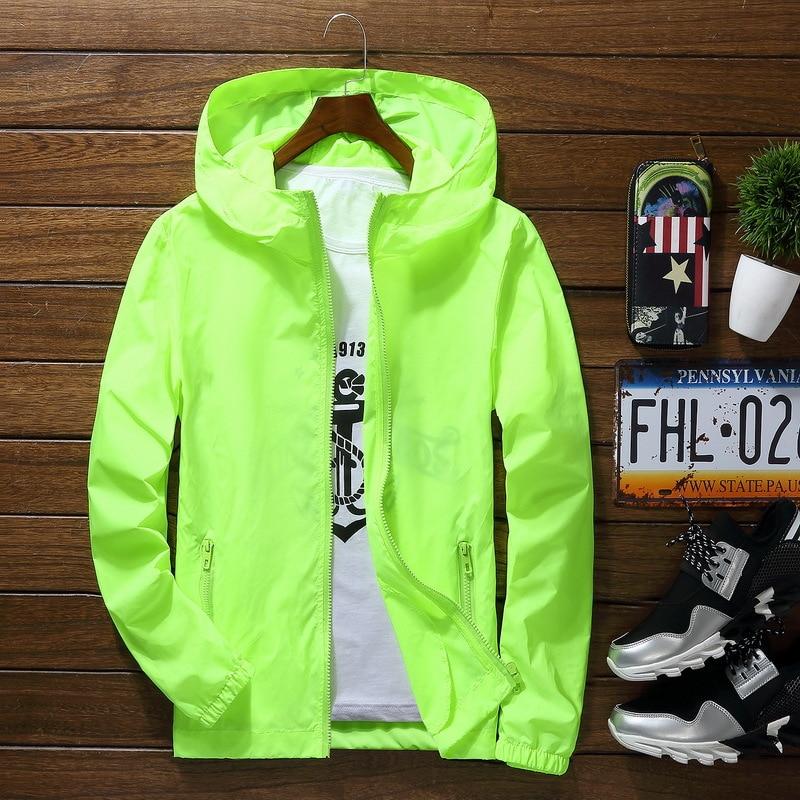 Plus Size 6XL 7XL New Spring Summer Bomber Jacket Men Women Casual Solid Windbreaker Zipper Thin Hooded Coat Outwear Male Jacket