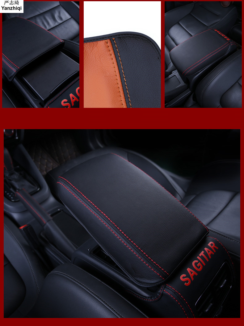Microfiber leather Armrest Console Pad Cover Cushion Support Box Armrest Top Mat Liner For 2012-2018 VW Volkswagen Jetta 6 MK6