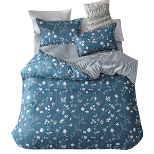 Image 2 - Four Piece Bedding Set Quilt Cover! Pillowcase Flower Full Size queen bed sheet with pillowcase fitted bed sheets king size