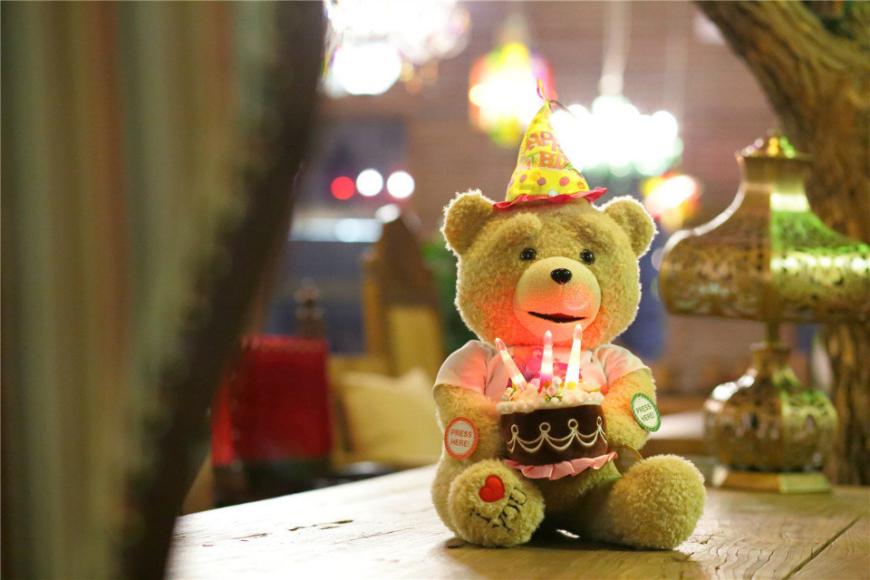 "20""/ 50CM SITTING HEIGHT TALKING TEDDY BEAR WITH MOVING MOUTH SINING HAPPY BIRTHDAY SONG AND RECORDING TOY GIFTGIVING"
