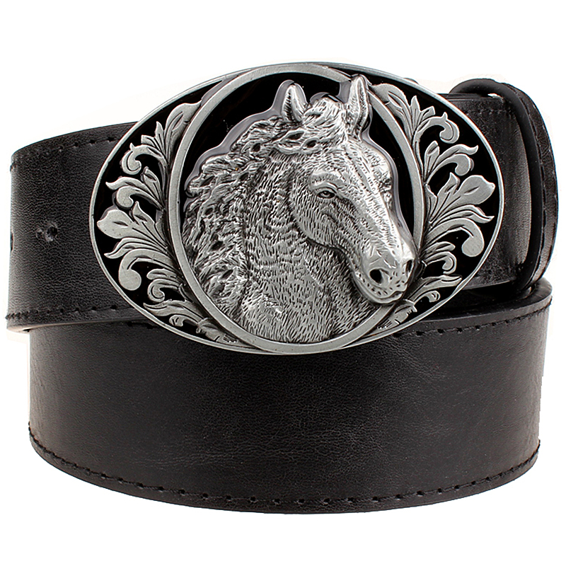 Fashion   belt   horse pattern animal   belts   cowboy style men's jeans   belt   punk rock style accessories