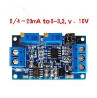 Módulo de voltaje de transferencia de corriente 0/4-20MA a 0- v5v10v Conversión de señal del transmisor de voltaje