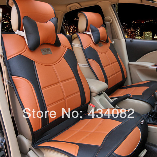 5 Seat Cover Top Soft Luxury Manual Leather Car Cushion For Universal CarsBenzBMWAudiHummer Black Orange Gray In Automobiles Covers From