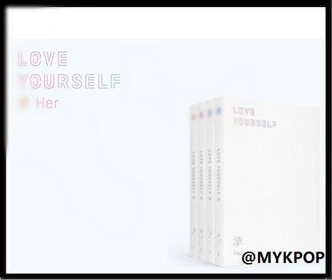 [MYKPOP] ~ 100% ORIGINAL officiel ~ LOVE YOUR SELF-HER Album Set CD + livre Photo + affiche + Mini livre + autocollant article KPOP SA18101603