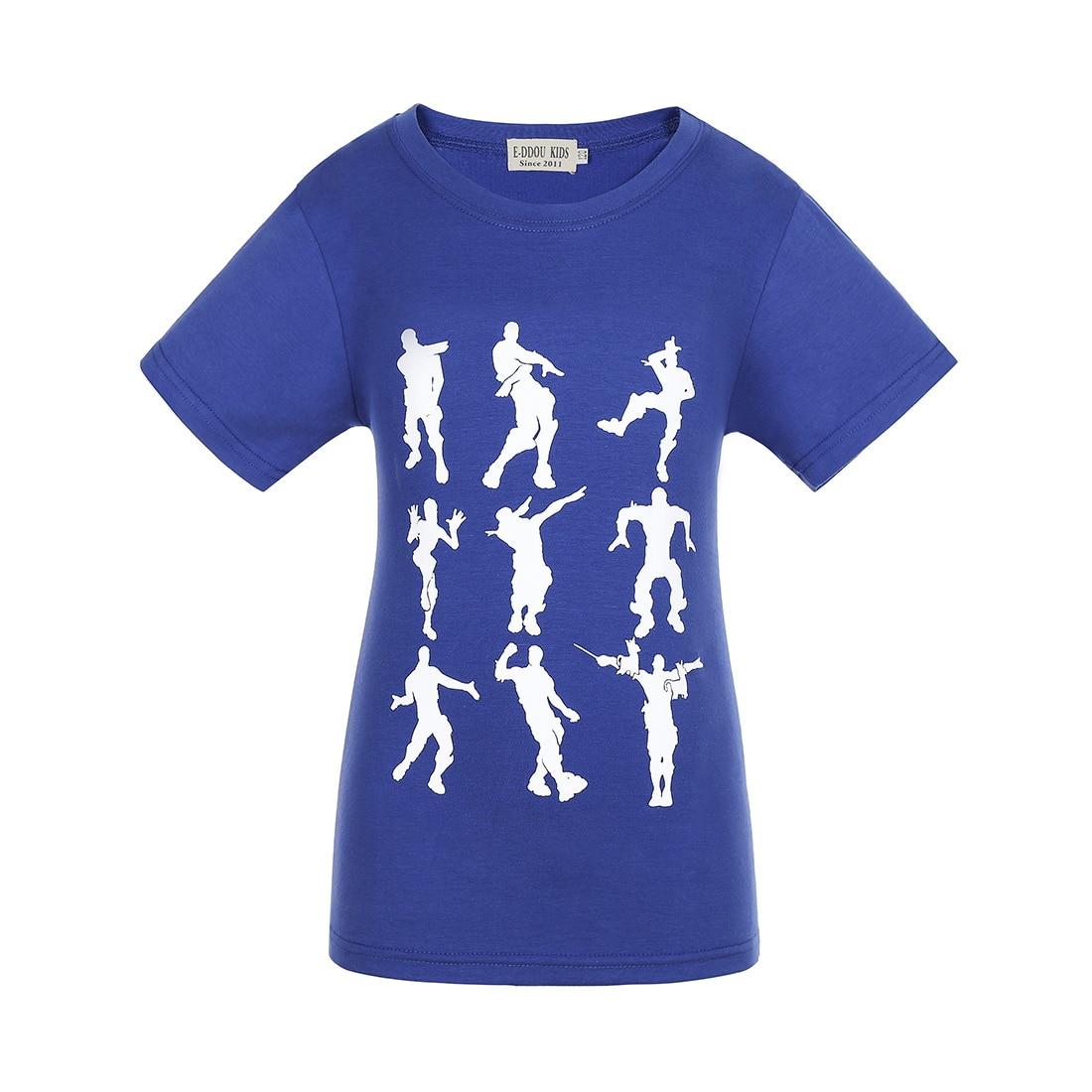 Boys Clothes Celebrations Teenage Children T Shirts Girls Tops Kids Gaming Emote Dances Dab T-Shirts Campus Funny Youth TShirt