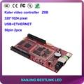 Z0B controlador de vídeo rgb levou Kaler LEVOU assíncrona cartão placa de vídeo de 320*1024 pixels usb port para a tela levou placar eletrônico