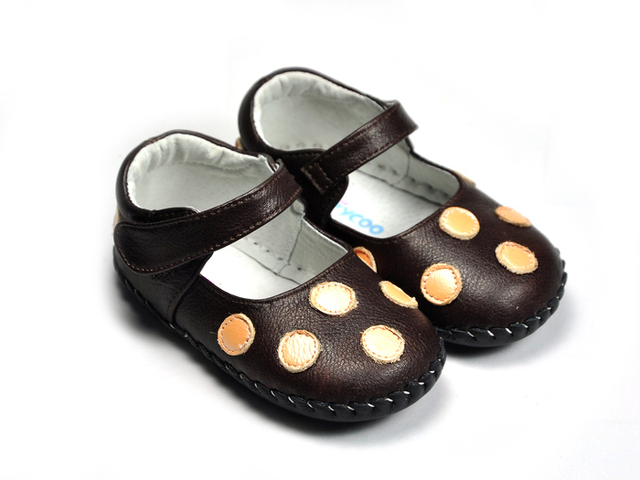 Genuine leather dot baby shoes indoor shoes freycoo 1059