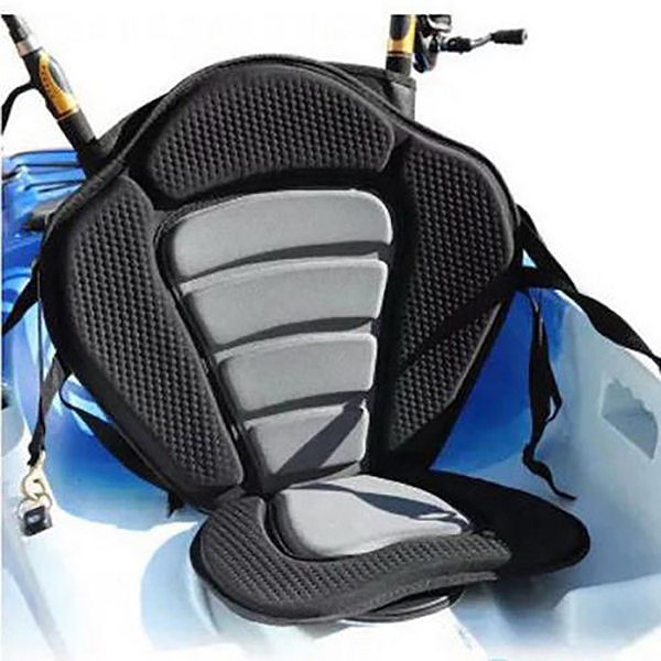 Inflatable Boat Kayak Accessories Adjustable Padded Canoe Kayak Seat Kayak Backrest Seat With Back Pack Rest Bag Boat Fishing