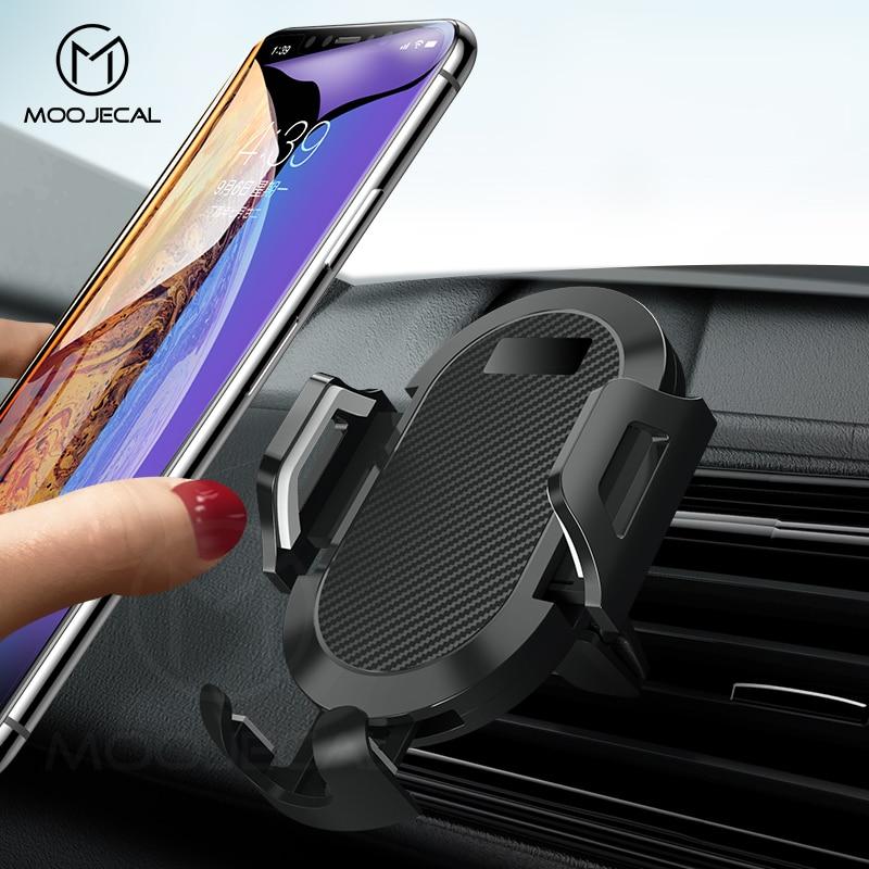 MOOJECAL Universal Auto Telefon Halter Einstellbare Handy Dashboard Halter Für iPhone X XS Max XR 7 8 GPS Windschutzscheibe stehen