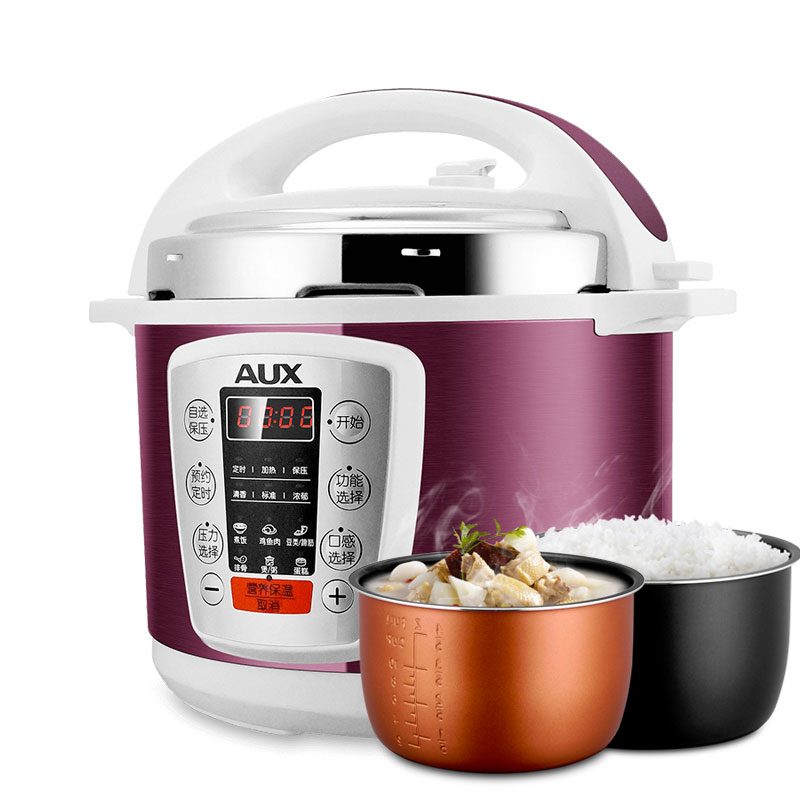 220V AUX Intelligent ELectric Pressure Rice Cooker 5L Multifunctional Pressure Heating Rice Cooker With 2 Inners EU/AU/UK/US for kenwood pressure cooker 6l multivarka electric cooker 220v 1000w smokehouse teflon coating electric rice cooker crockpots
