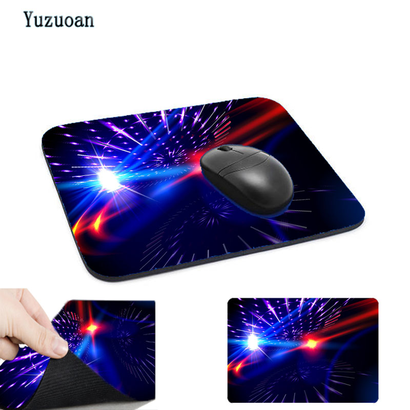 Yuzuoan Custom Night Background Multicolor Cosmic Star Wonders Natural Rubber Anti-skid Mouse Pad Desktop Protection Mat